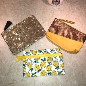 Lot of 3 Ipsy Glam Bags